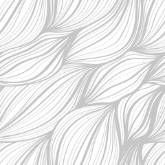 abstract vector wavy seamless hand-drawn black and white background