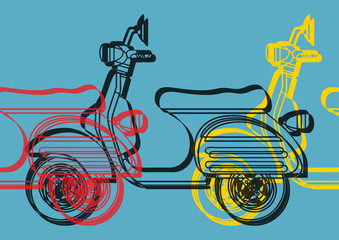 Scooter pop art