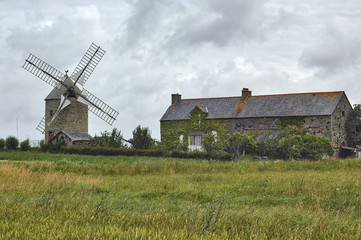 Country house and windmill in Normandy