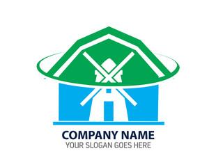 Barn Farm Logo Icon Template