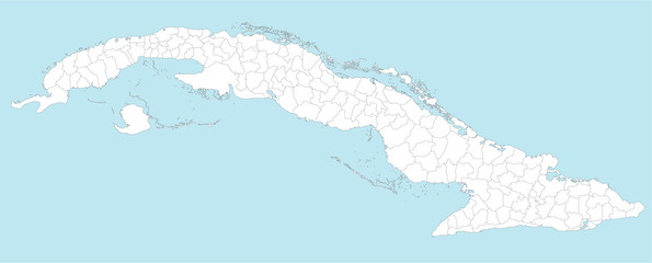 A large and detailed map of Cuba with all provinces and municipios.