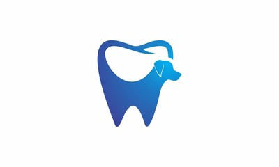 Dog Dental vector logo