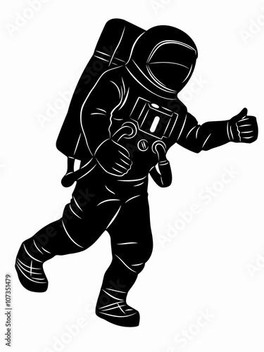 astronaut silhouette vector - photo #2
