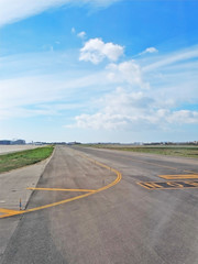 Airport runway in the sun