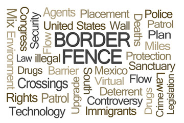 Border Fence Word Cloud