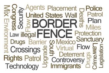 Border Fence Word Cloud
