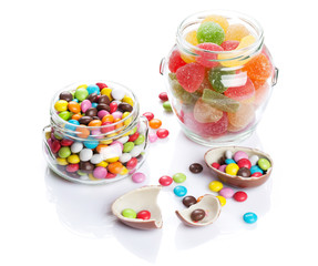 Colorful candies and marmalade