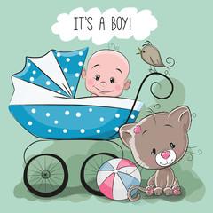 Greeting card it's a boy
