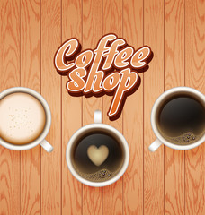 coffee break. Hot Coffee cup onwooden background. it`s coffee time. All you need is coffee. recharge