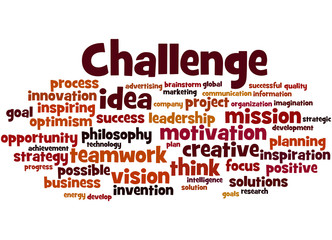 Challenge, word cloud concept 6