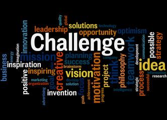 Challenge, word cloud concept 8