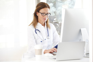 Female doctor working