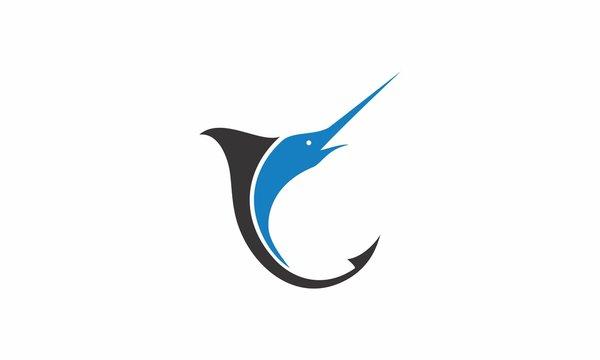 marlin fishing vector