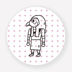 egypt god doodle