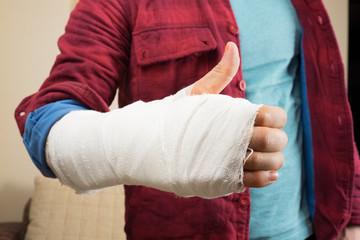 Broken hand