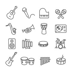 Musical Instruments Icons Collection