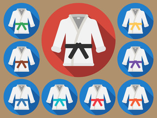 Karate suit flat