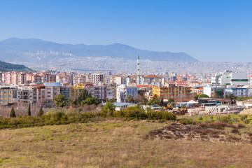 Cityscape of Izmir city, Turkey. Modern part