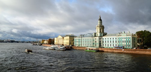 General view on Saint-Petersburg embankment