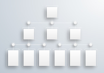 Crystal White Label, Organization Chart #Vector Background