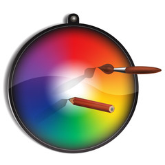 Color circle for painter.
