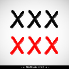 XXX designed sign 11 great for any use. Vector EPS10.