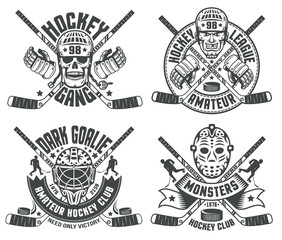 Hockey logos goalie masks