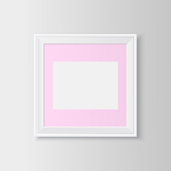 Blank picture frame.