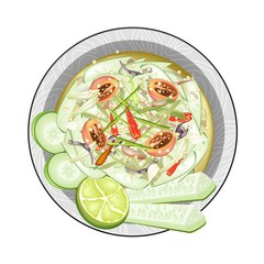 Thai Cucumber Salad with Fermented Salted Crabs