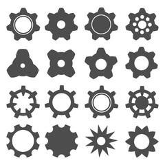Set gears. Gear icon illustration for design