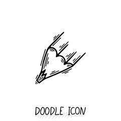 Vector Doodle Pencil Icon. Pencil Stub.