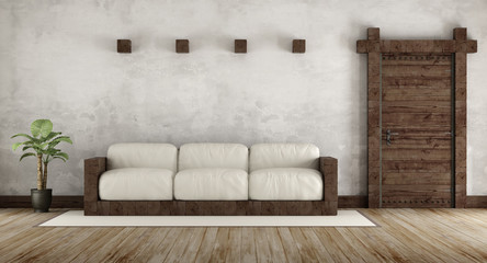 Living room in rustic style Wall mural