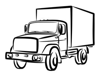 Sketch of heavy truck.