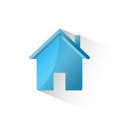 Home flat icon isolate on white background vector illustration eps 10