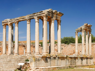 Dougga, Roman Ruins. Unesco World Heritage Site in Tunisia.