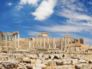 Dougga, Roman Ruins. Unesco World Heritage Site in Tunisia.
