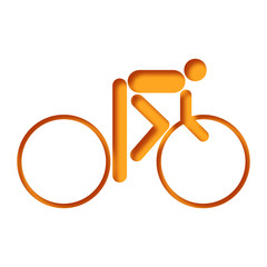 Logo cycle. Cycliste. Sur piste.