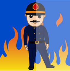 Professional Firefighter Character