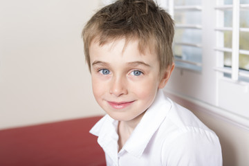 Five years old child at home