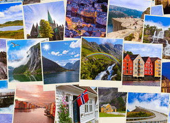 Stack of Norway travel shots