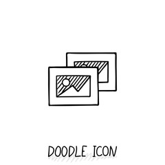 Doodle vector icon with some pictures.