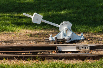 vintage railroad switch