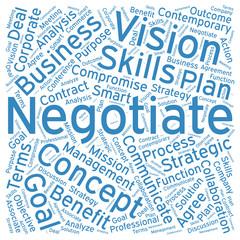 Negotiate ,Word cloud art  background