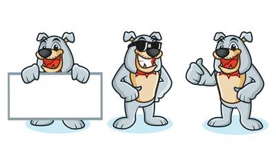 Bulldog Mascot Vector happy