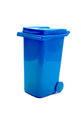 trash can on white background