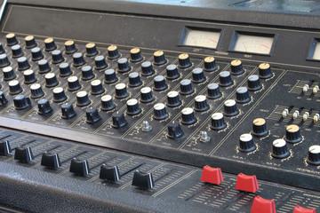 closeup audio mixer