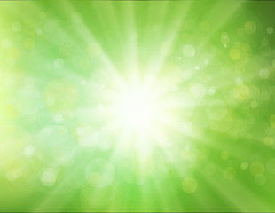 Green Sunburst Background