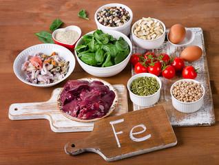 Fototapeta Food high in Iron obraz