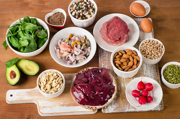 Foods with Zinc mineral.