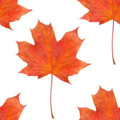 seamless maple leaf red autumn